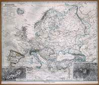 Map of Europe 1879 by Justus Perthes Gotha Germany