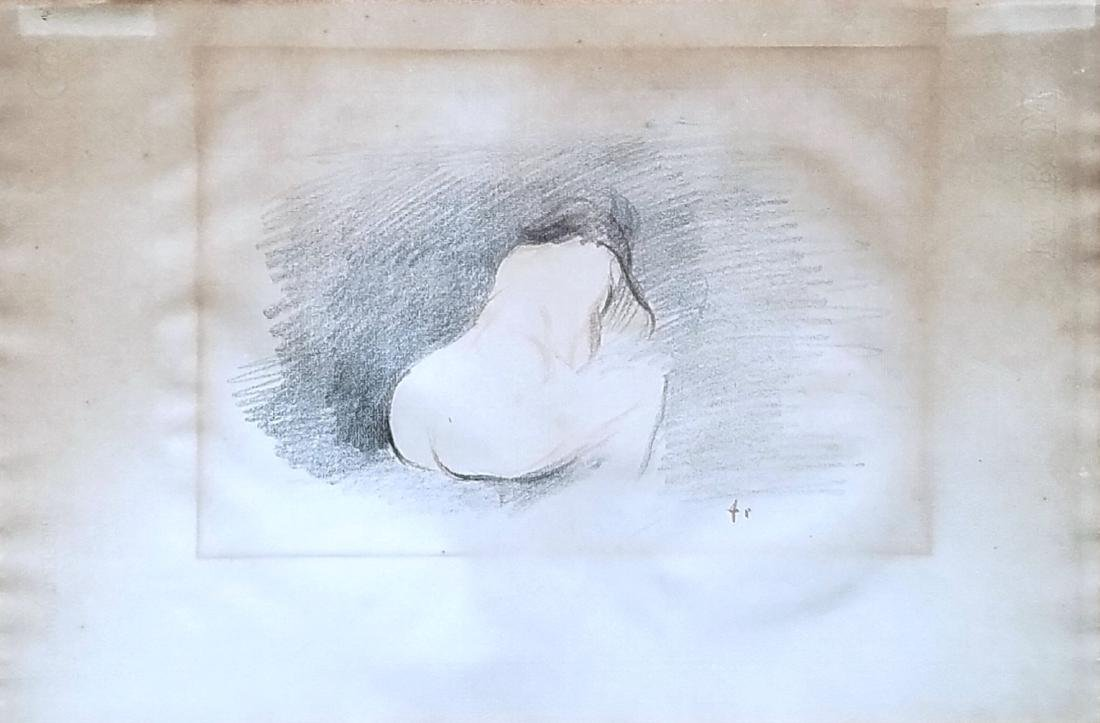 Jean Louis Forain: Etude de Nu, Vue de Dos. 1898-1902
