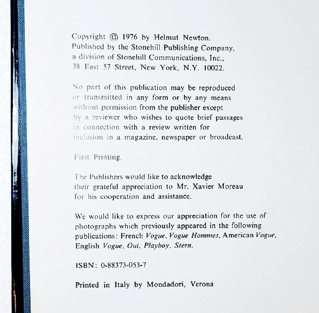 Helmut Newton: White Women. 1976 First Print, First Ed - 2