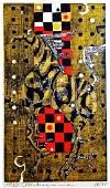 Tadashi Nakayama: Thunderclap. 1963 Japanese Woodblock