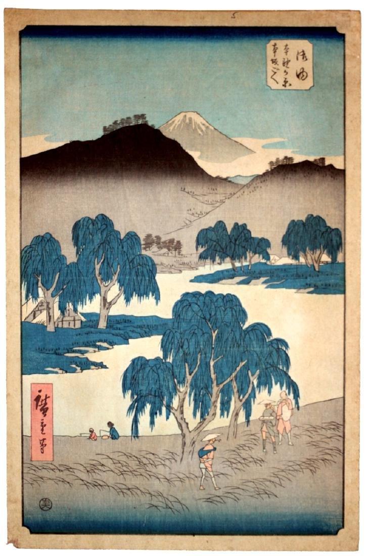 Ando Hiroshige: Goyu Honno-gahara, 1834 Ukio-e Woodcut