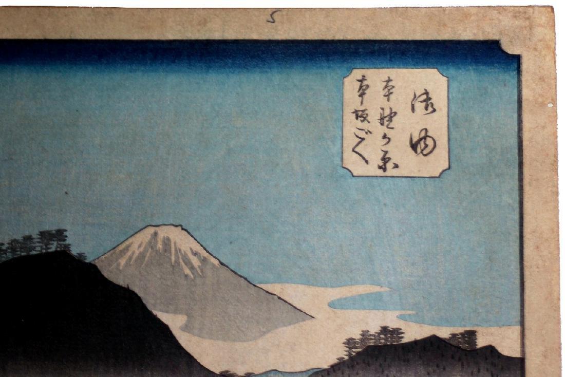 Ando Hiroshige: Goyu Honno-gahara, 1834 Ukio-e Woodcut - 6