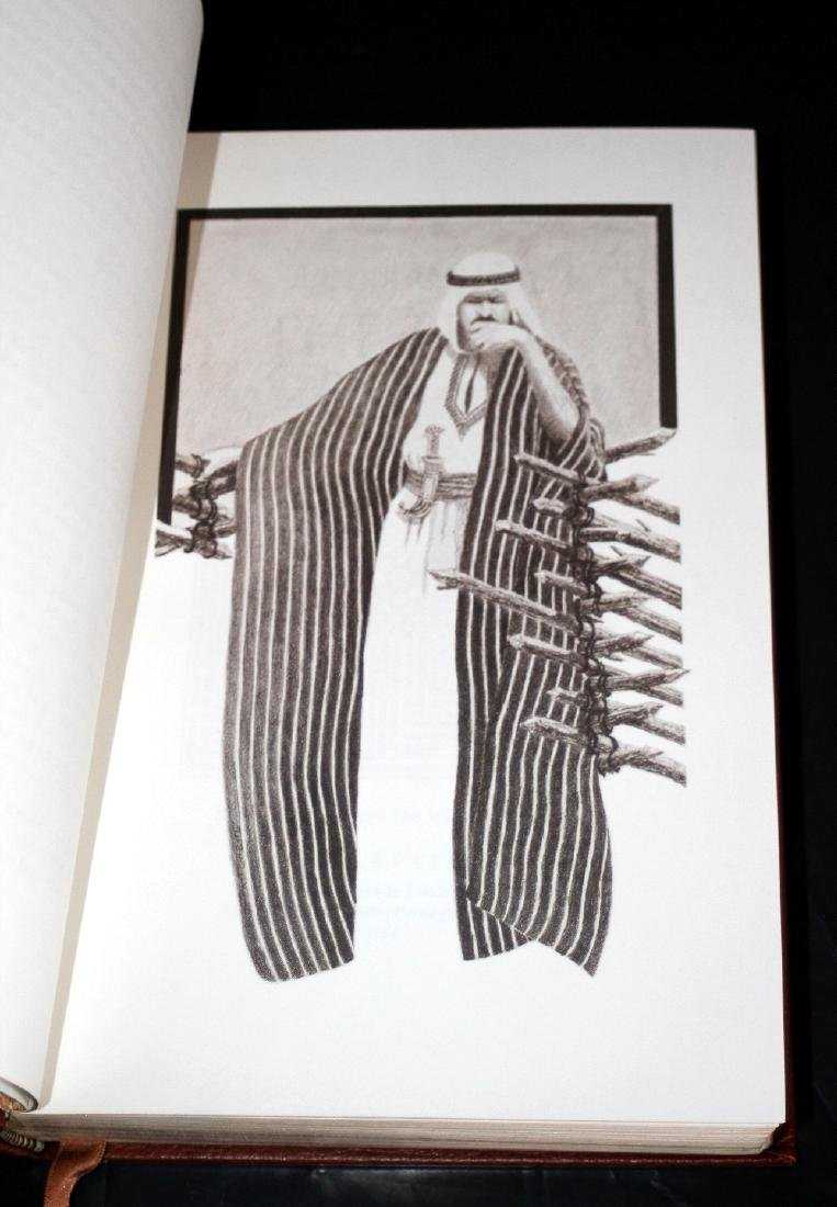 Leon Uris: The Haj. Signed 1st Ed. Franklin Lib. 1984 - 5