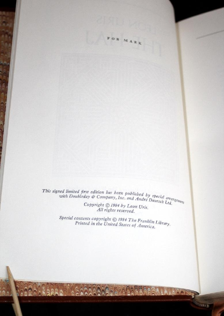Leon Uris: The Haj. Signed 1st Ed. Franklin Lib. 1984 - 7