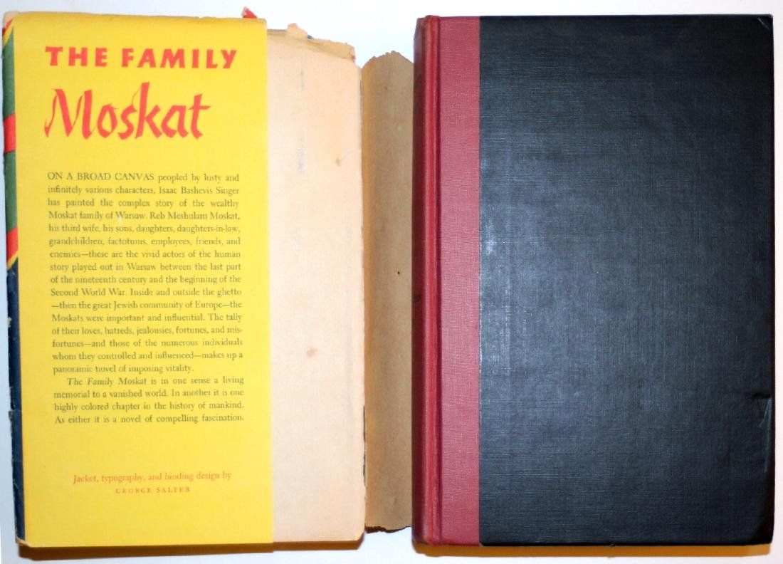 Isaac Bashevis Singer: The Family Moskat 1950 Inscribed - 2