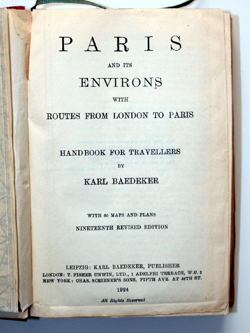 Baedeker 1924 Handbook: Paris & its Environs - 2