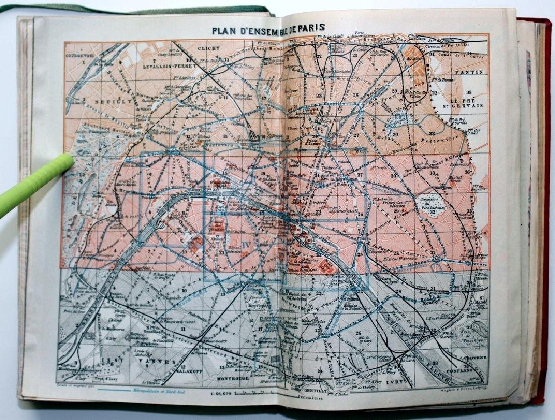 Baedeker 1924 Handbook: Paris & its Environs - 4