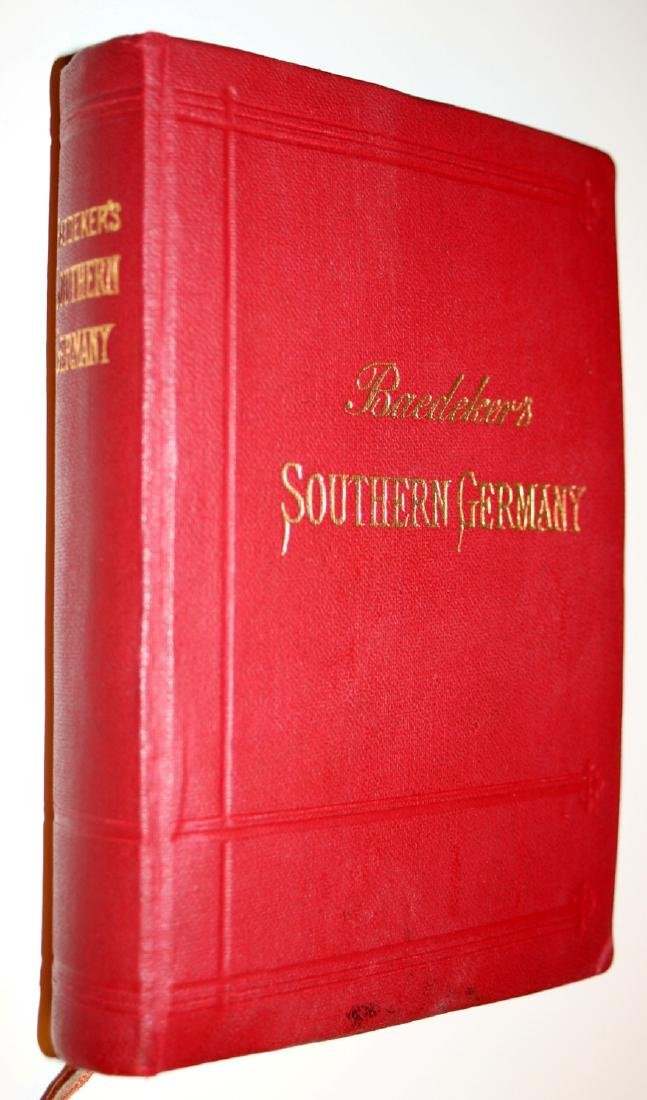 Karl Baedeker: Southern Germany. 1929 Travellers Guide