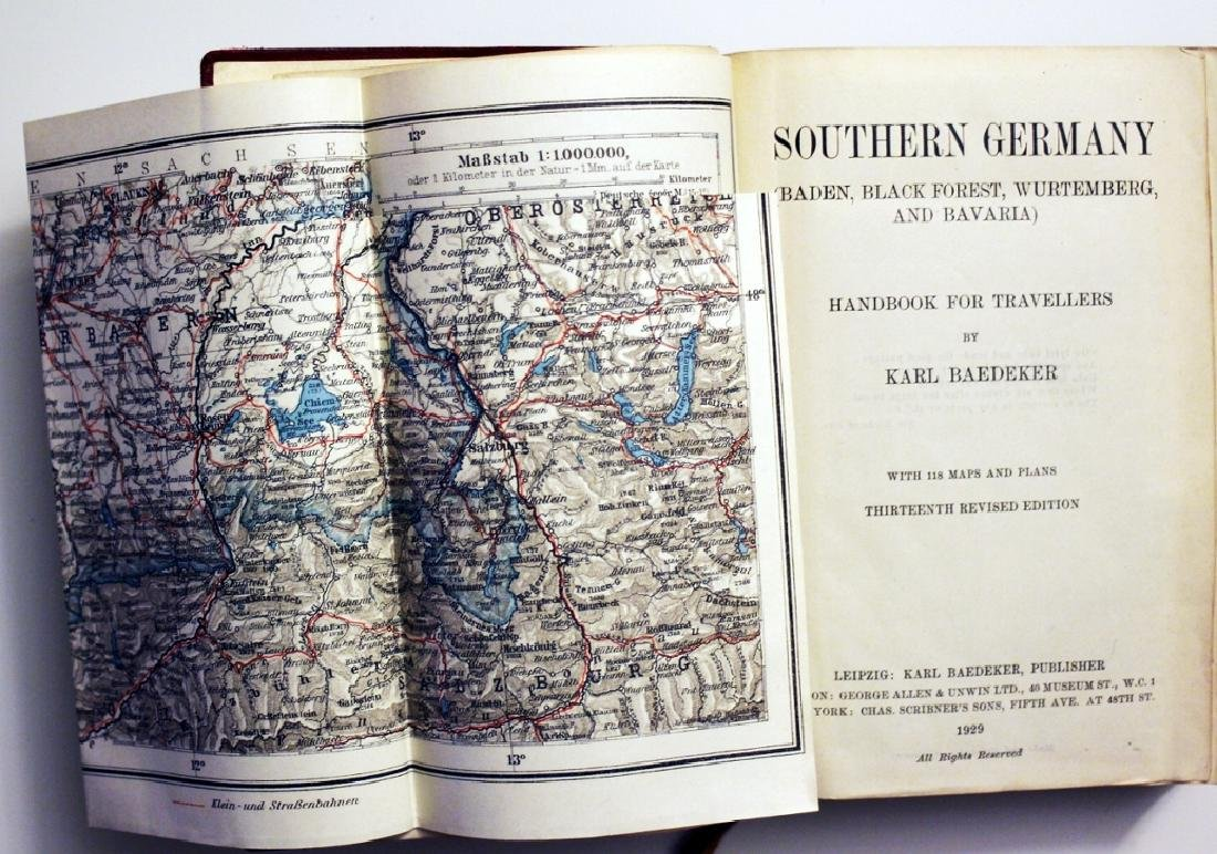 Karl Baedeker: Southern Germany. 1929 Travellers Guide - 2