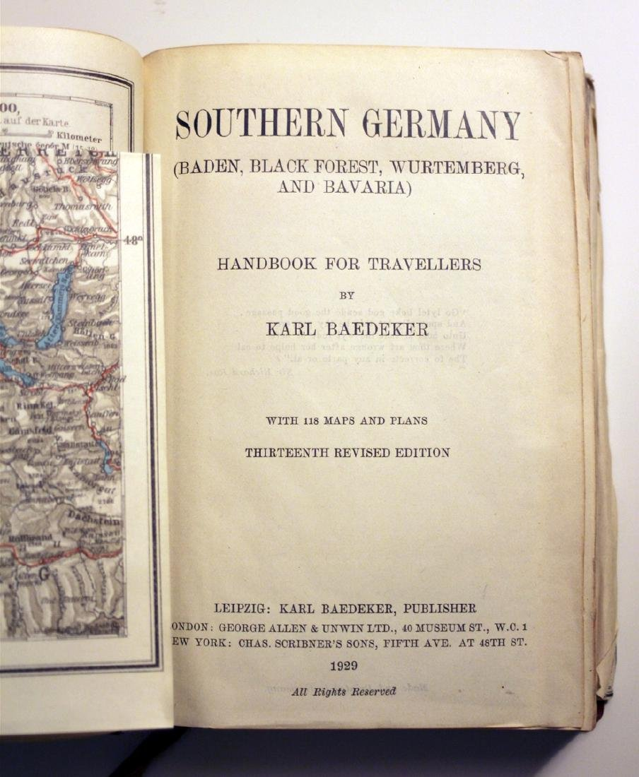 Karl Baedeker: Southern Germany. 1929 Travellers Guide - 3