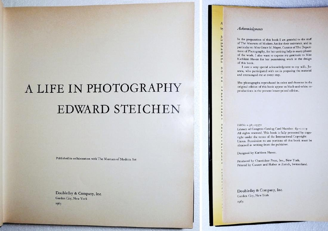 Steichen: A Life in Photography 1963 First Edtion - 2