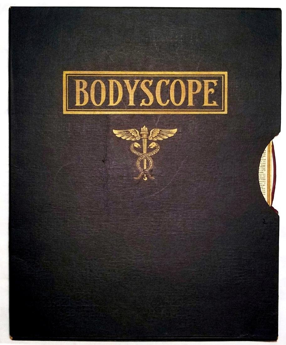 Bodyscope Anatomy Volvelle Art Deco Guide. 1948