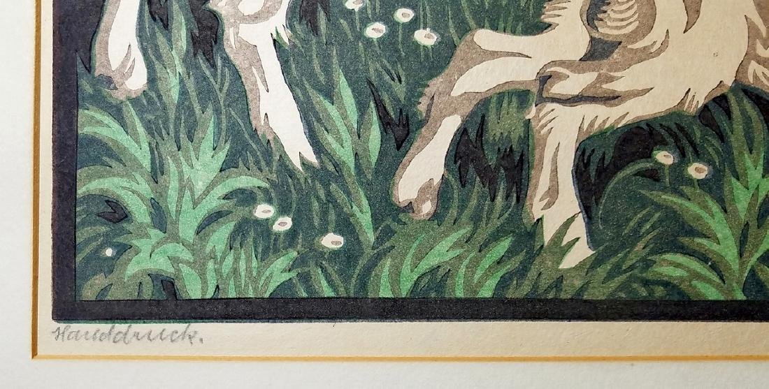 Norbertine Bresslern-Roth: Youth. Color Linocut c.1925 - 3