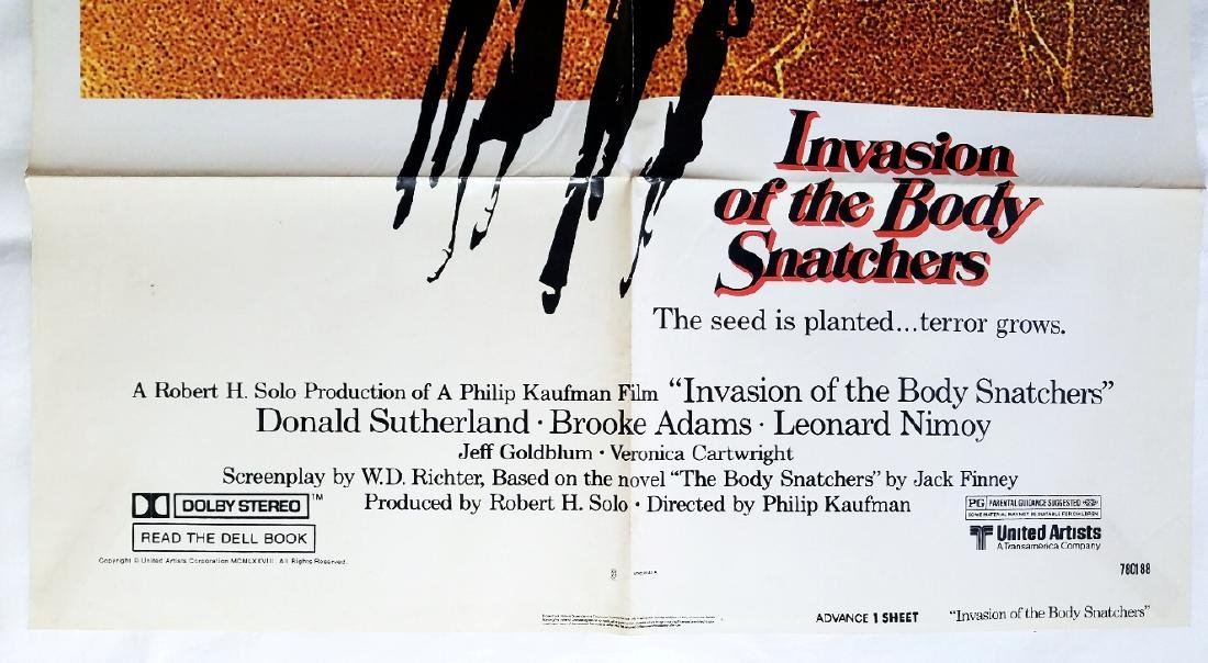 Invasion of the Body Snatchers 1978 Original Poster - 3