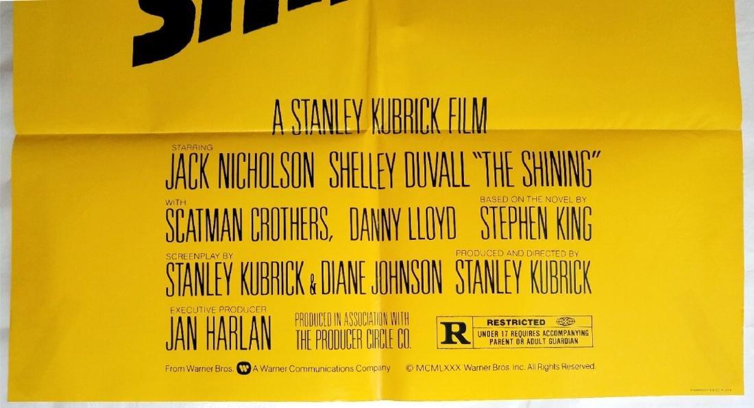 The Shining 1980 Horror Movie Original Advance Poster - 2