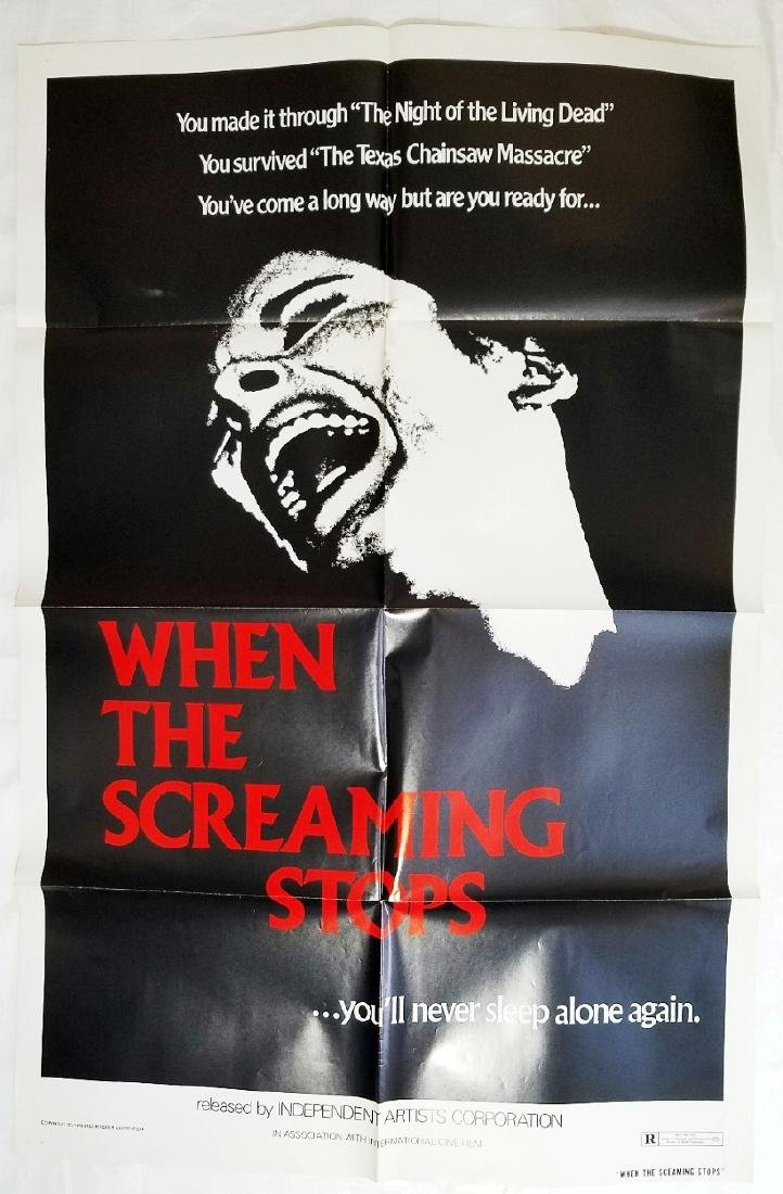 When The Screaming Stops: 1978 Horror Movie Poster