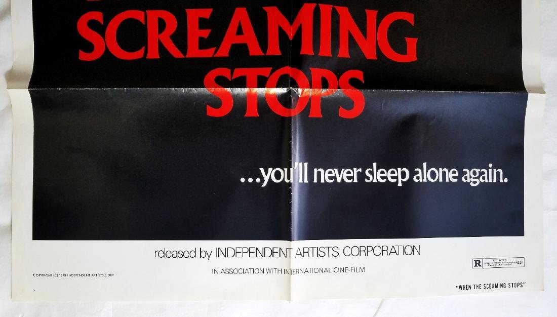 When The Screaming Stops: 1978 Horror Movie Poster - 2