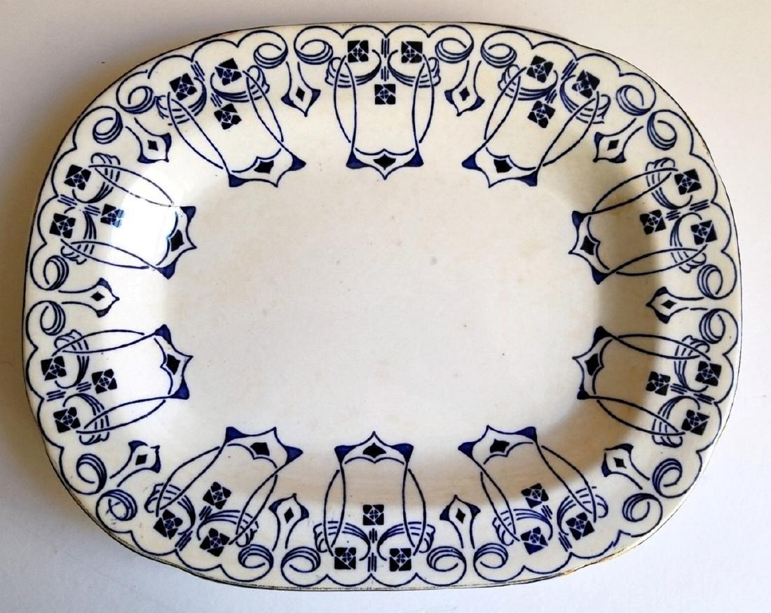 Buffalo Pottery Semi-Vitreous Lucern Platter c.1912