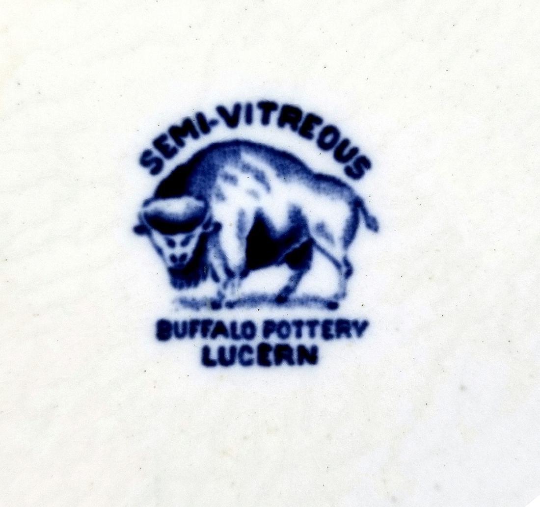 Buffalo Pottery Semi-Vitreous Lucern Platter c.1912 - 3