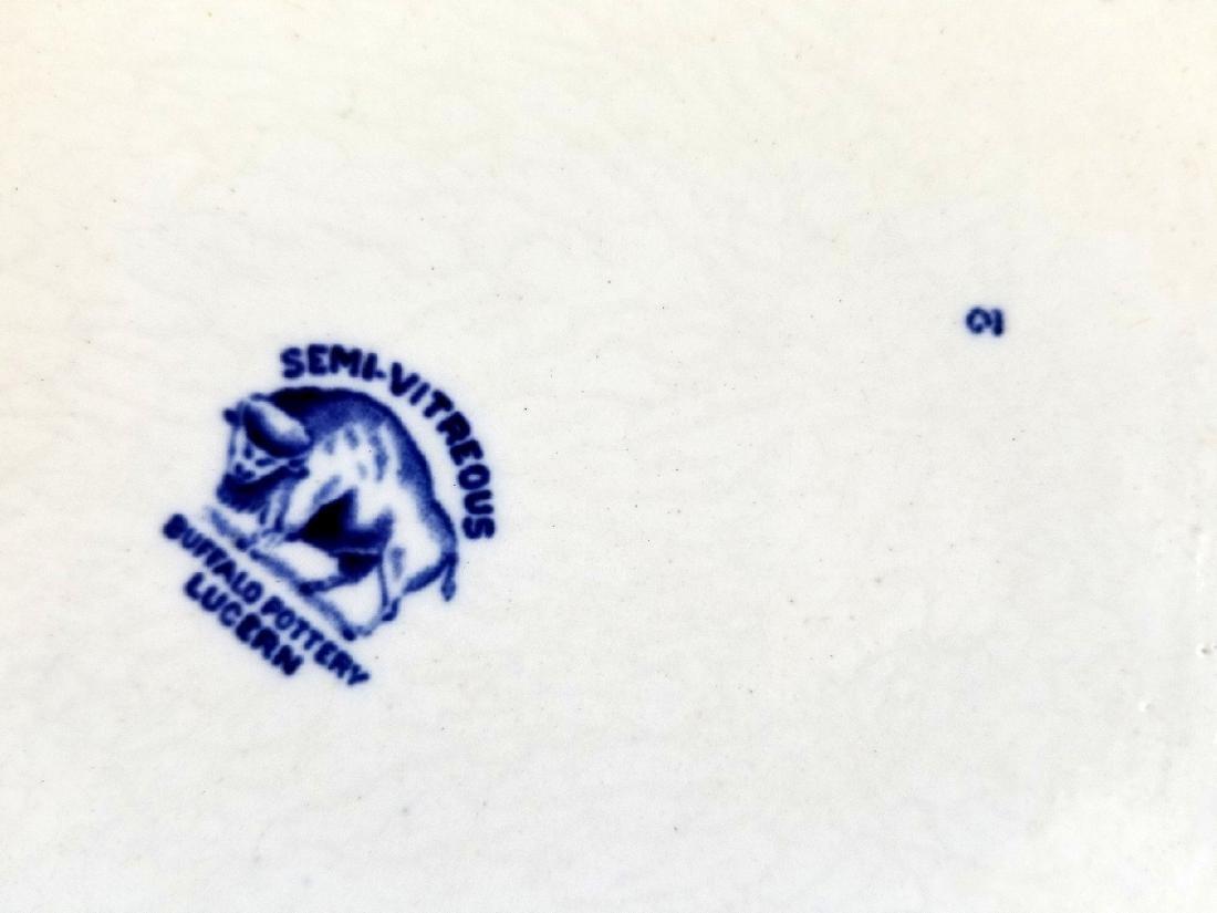 Buffalo Pottery Semi-Vitreous Lucern Platter c.1912 - 4