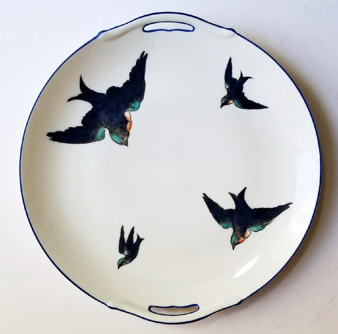 Noritake Nippon Hummingbirds Handled Plate c.1912