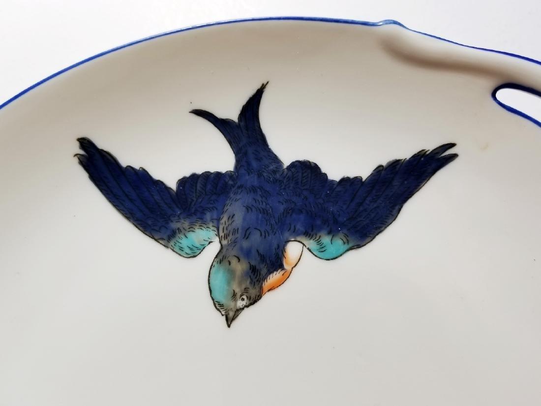 Noritake Nippon Hummingbirds Handled Plate c.1912 - 3