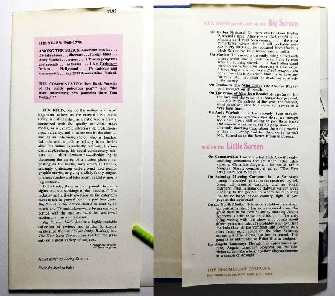 Rex Reed Signed: Big Screen, Little Screen, 1971 1st Ed - 3