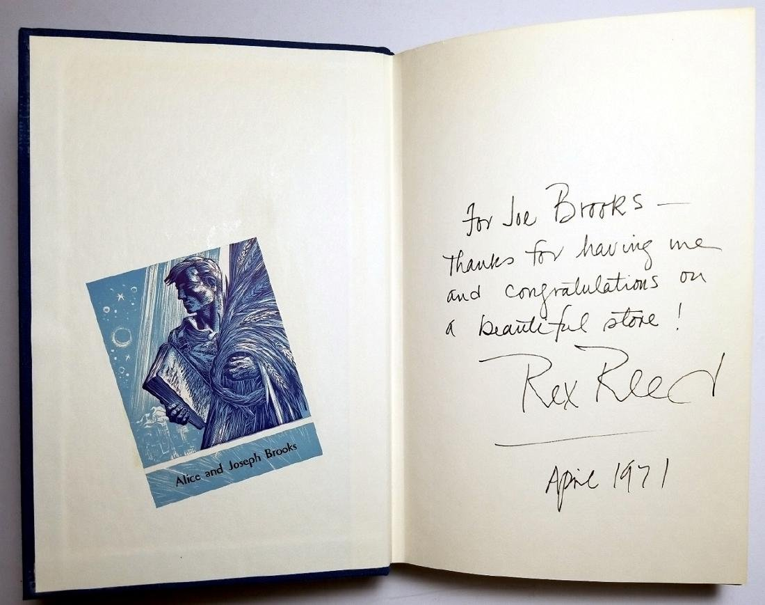 Rex Reed Signed: Big Screen, Little Screen, 1971 1st Ed - 4