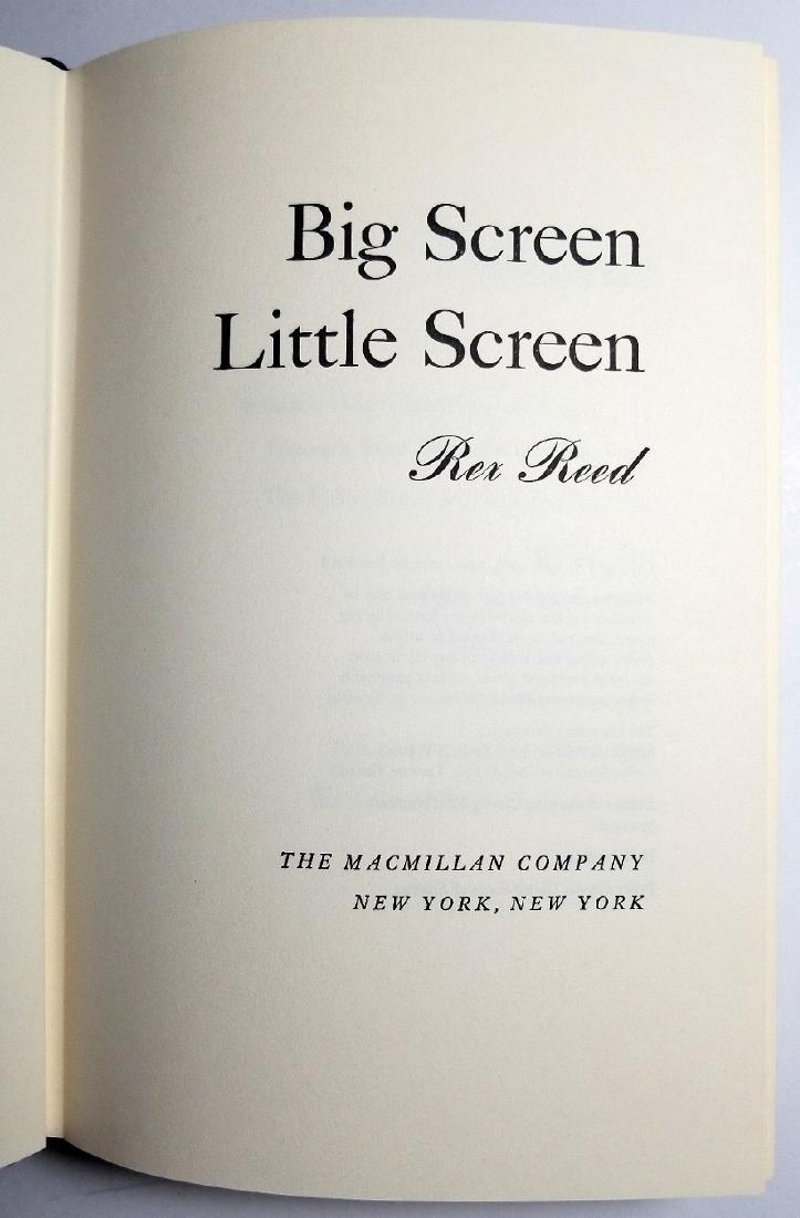 Rex Reed Signed: Big Screen, Little Screen, 1971 1st Ed - 5
