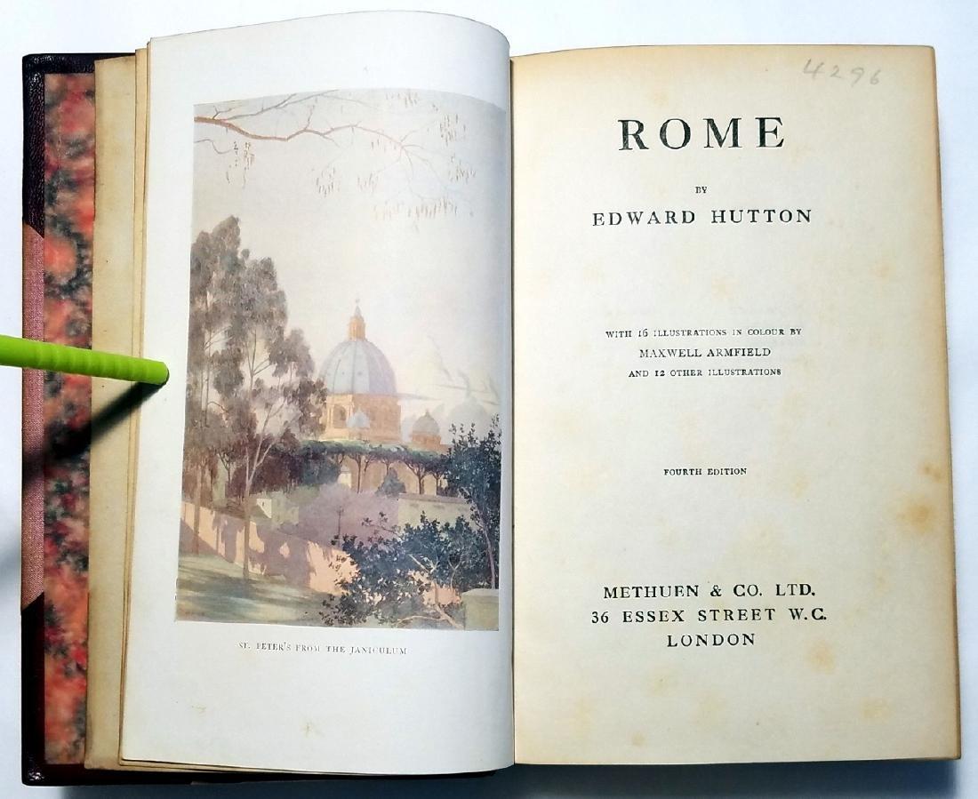 Edward Hutton: Rome. Illustrator Maxwell Armfield. 1924 - 3