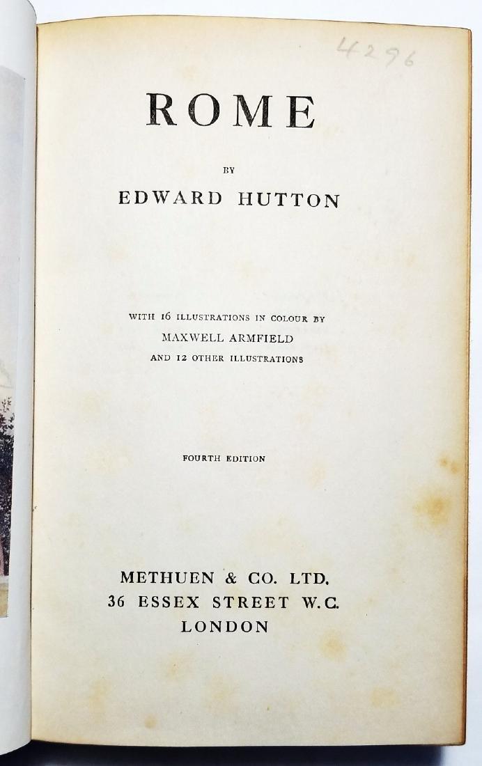 Edward Hutton: Rome. Illustrator Maxwell Armfield. 1924 - 4