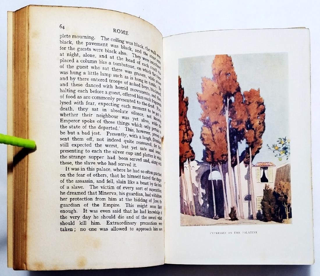Edward Hutton: Rome. Illustrator Maxwell Armfield. 1924 - 6