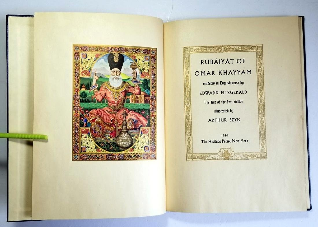 Arthur Szyk Inscribed Rubaiyat of Omar Khayyam 1940 1Ed