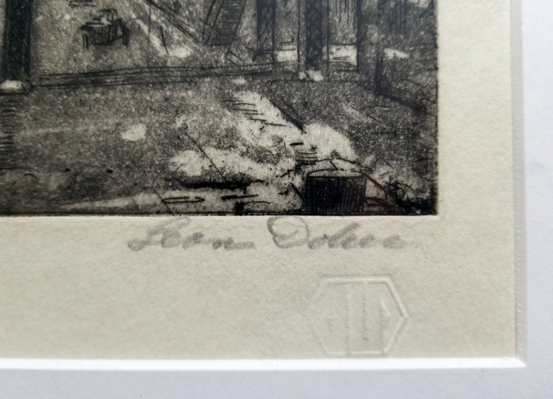 Leon L. Dolice: E.34th Street New York 1951 A/P Etching - 3