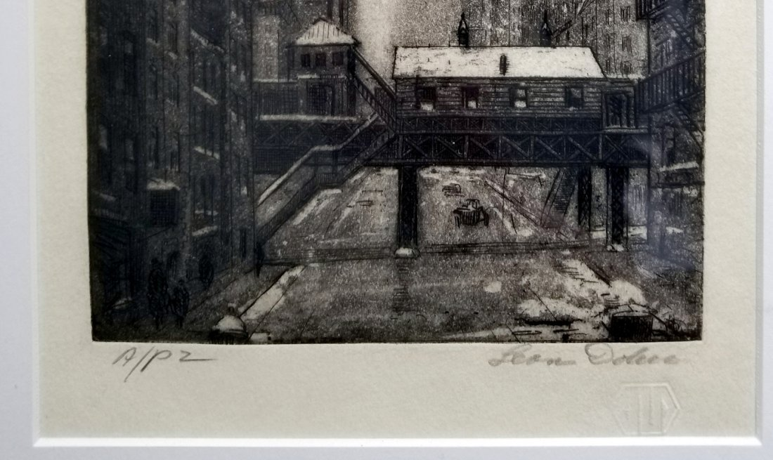 Leon L. Dolice: E.34th Street New York 1951 A/P Etching - 6