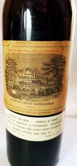 1968 Chateau Lafite Rothschild. Pauillac France