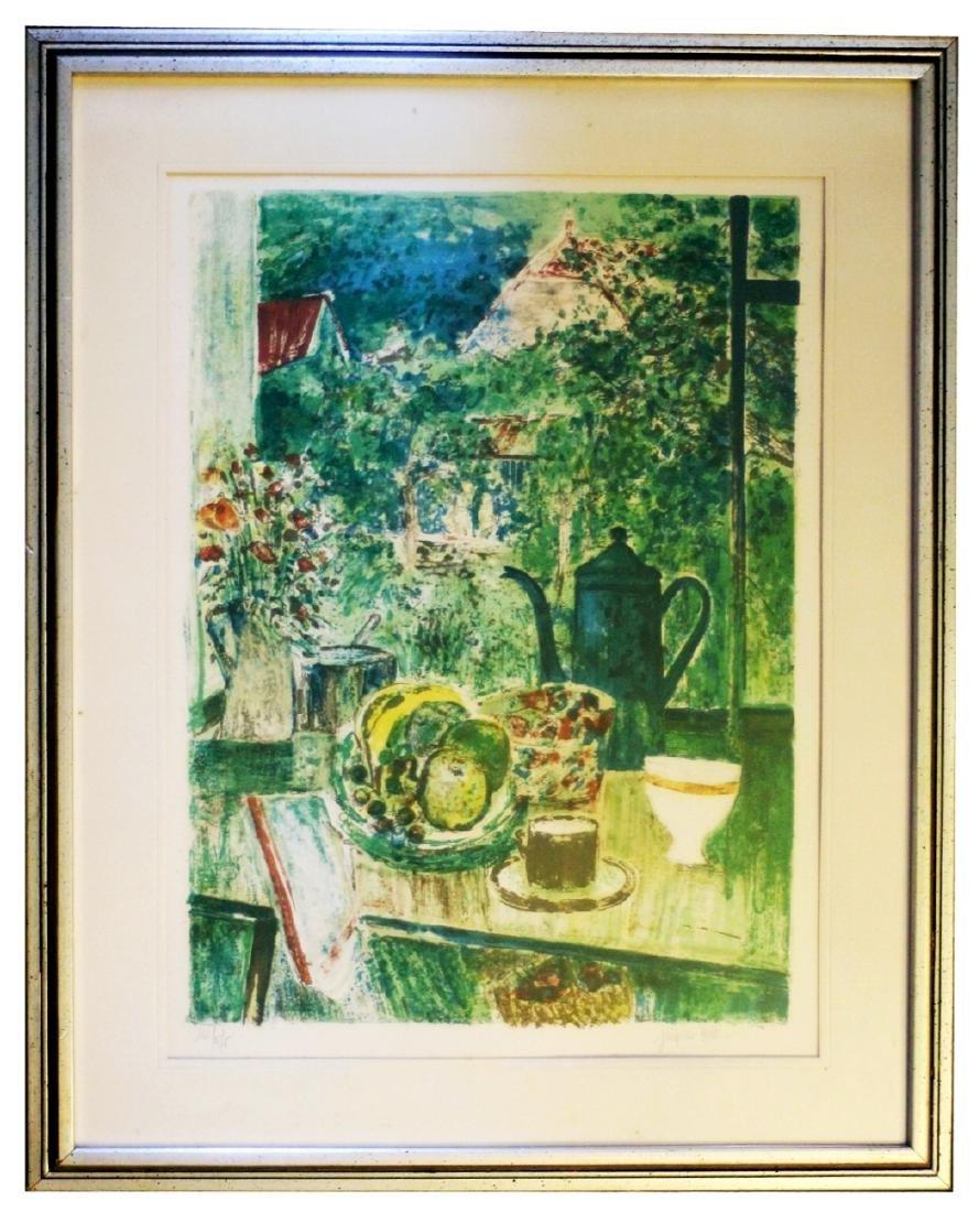 Jacques Petit (France) Le Gouter 1970 Signed Lithograph