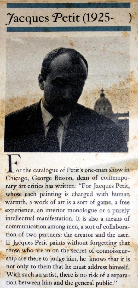 Jacques Petit (France) Le Gouter 1970 Signed Lithograph - 7