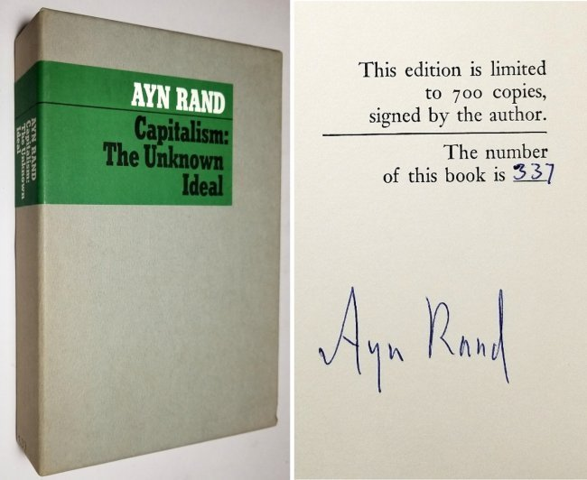 Ayn Rand Signed: Capitalism the Unknown Ideal 337/700
