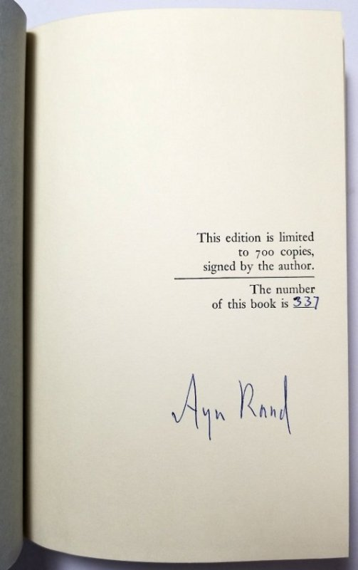 Ayn Rand Signed: Capitalism the Unknown Ideal 337/700 - 2