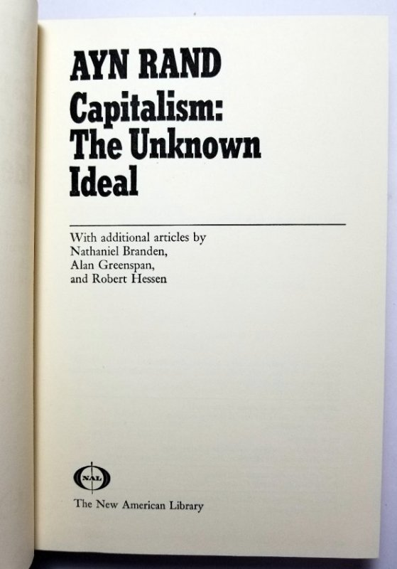Ayn Rand Signed: Capitalism the Unknown Ideal 337/700 - 6