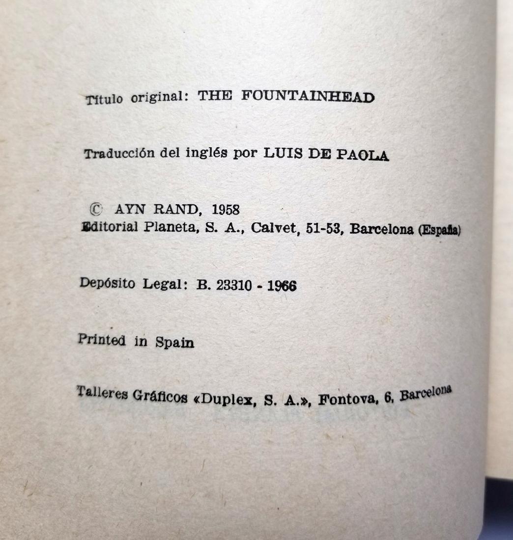Ayn Rand: The Fountainhead. 1966, Spanish Edition - 3