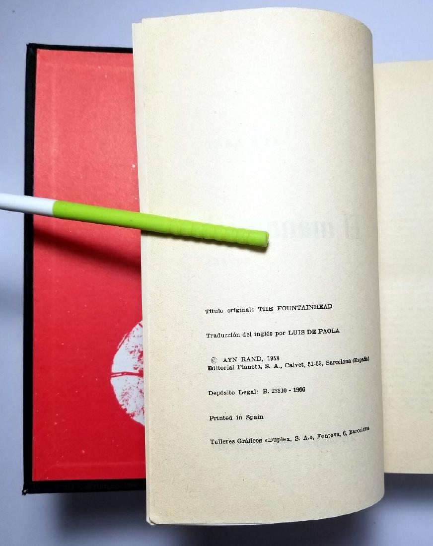 Ayn Rand: The Fountainhead. 1966, Spanish Edition - 4