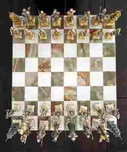 Piero Benzoni: Samurai Chess Set: Gold/Silver Plated,