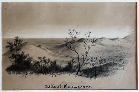 Charles DeWolf Brownell: Hills of Guamacaro Cuba 1850