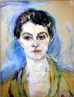 Arthur Rudolph: Female Portrait 1932 Pastel, Pencil