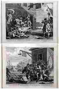 William Hogarth: The Invasion, France & England, 1756.