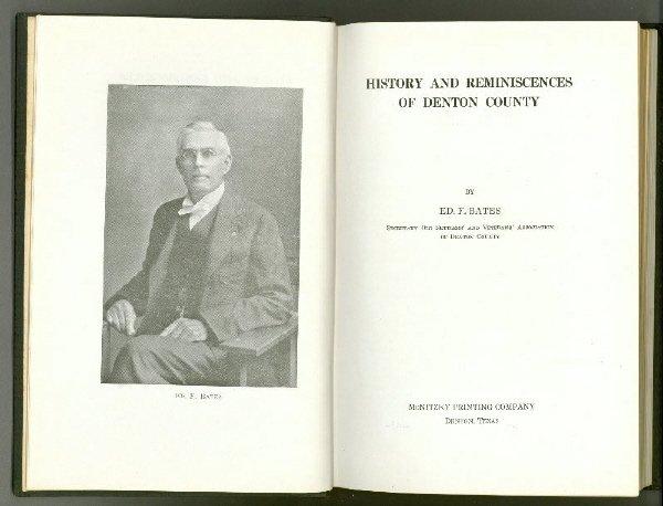 5: BATES, History and Reminiscences of Denton County