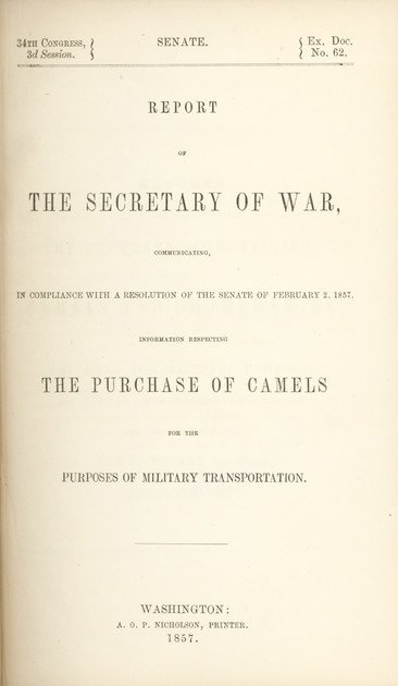 15: 1857 Military Camel Experiment Report