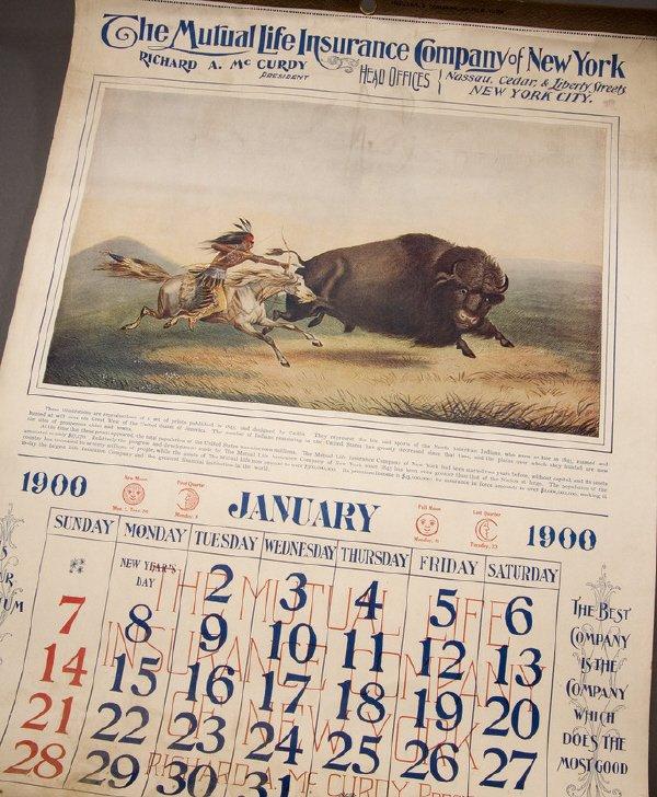 17: CATLIN. Calendar for the year 1900